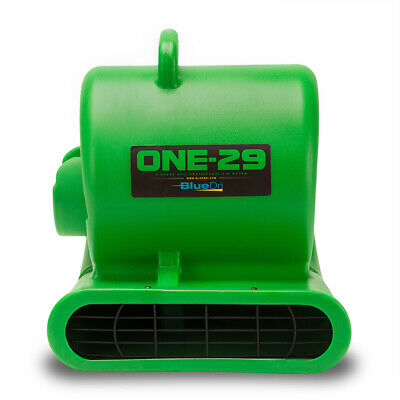 BlueDri® ONE-29 Air Mover Carpet Dryer Blower Floor Fan High CFM Low Amps GREEN