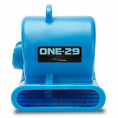 BlueDri® ONE-29 Air Mover Carpet Dryer Blower Floor Fan High CFM Low Amps BLUE