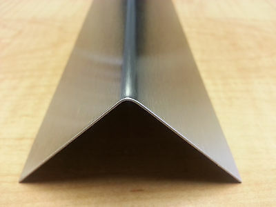 "20ga Stainless Steel Fabricated Angle T-304 1/2"" x 1/2"" x 48"""