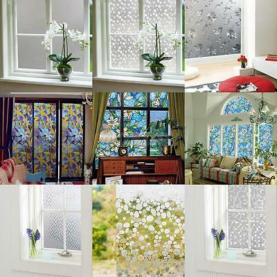 Various Bathroom Door Window Privacy Static Cling Frosted Glass Film Stickers