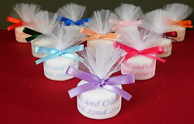 Personalised Candle Tealight Wedding Favours ( Set Of 70 ) in any colour