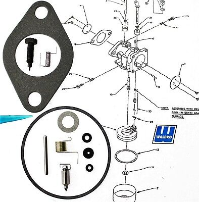 Genuine Walbro K1-LMH Repair Kit with instructions for LMH carburetor K1LMH  WA1