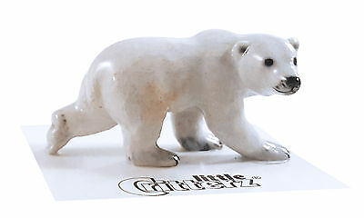 ➸ LITTLE CRITTERZ Wild Animal Miniature Figurine Polar Bear Beaufort