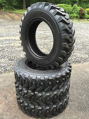 4 HD 5.70-12 Solideeal/Camso Xtra Wall Skid Steer Tires -5.70X12- 6 PLY