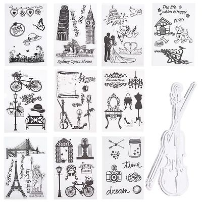 1 Sheet Silicone Transparent Clear Stamp For DIY Craft Scrapbooking Decorating