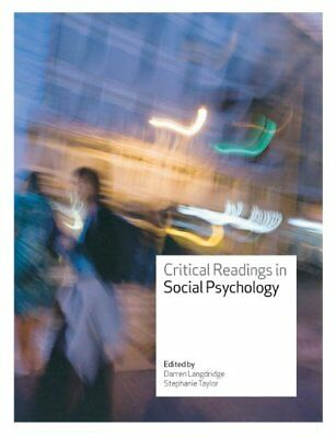 Critical Readings in Social Psychology, Taylor, Stephanie Paperback Book The