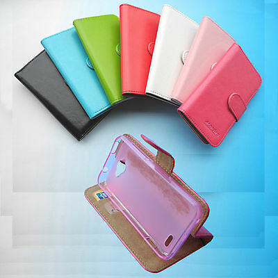 For Optus Prepaid Smartphone-Folder Flip Folio PU Leather Case cover Wallet 4G