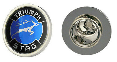Triumph Stag Blue Logo Clutch Pin Badge Choice of Gold/Silver