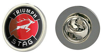 Triumph Stag Red Logo Clutch Pin Badge Choice of Gold/Silver