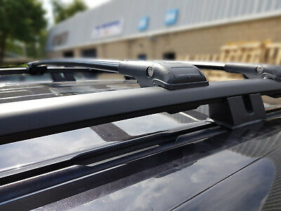 Mercedes Vito Viano W639 Lockable Black Cross Bars Roof Racks 2003 Onwards 75 Kg