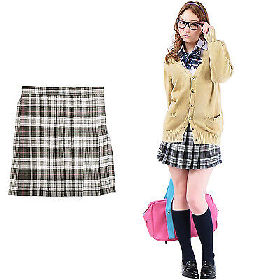 Pleated Skirt Check Design (Gray), Teens Ever