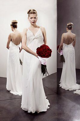 Benjamin Roberts Tia 5160 Wedding Dress UK10 Ivory BNWT Chiffon