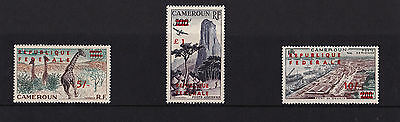Cameroun - 1961 Sterling 'Republique Federale' Surcharges - 5/- - £1 - SEE NOTES