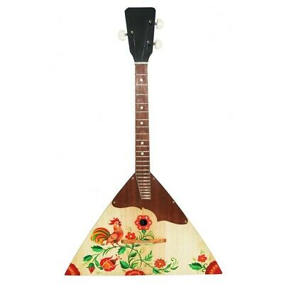 New Russian / Ukrainian Balalaika 3 Three String Prima. Hand Painted! Wood! 52