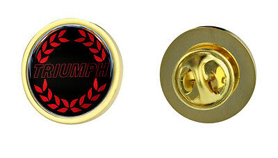 Triumph Red Wreath Logo Clutch Pin Badge Choice of Gold/Silver