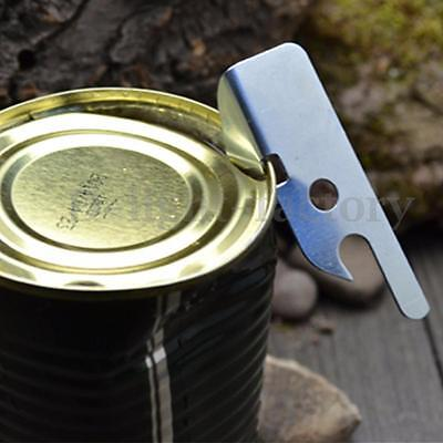 Stainless Steel Compact Can Beer Bottle Opener Camping Military Survival Tool
