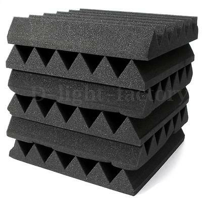 30x Studio Acoustic Foam Wedge Tiles Sound Treatment Room Absorption Soundproof