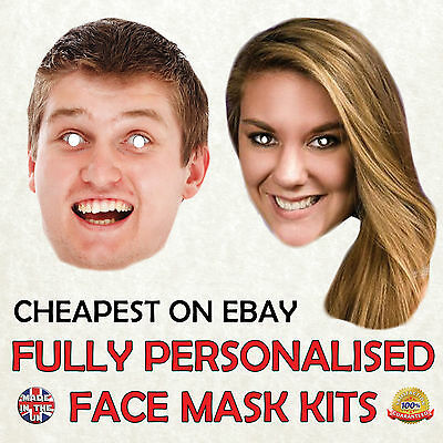 Personalised Custom Face Mask Kits Send A Pic And We Suppy All You Need To Diy
