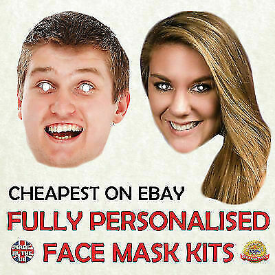 Personalised Photo Face Masks Ready to Wear Masks Hen Stag Birthday Parties New