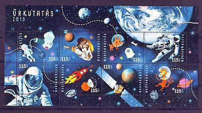 HUNGARY - 2015. Space Anniversaries and Events - souvenir sheet - MNH