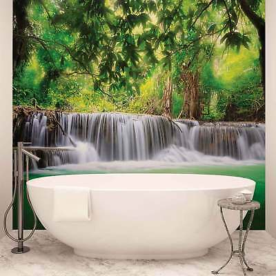 WALL MURAL PHOTO WALLPAPER XXL Waterfall Lake Forest  (1966WS)
