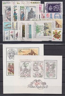 s8155) CZECH REP. 1997 MNH** Year set 29v + 2 S/S