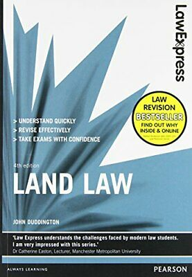Law Express: Land Law (Revision Guide) by Duddington, John Book The Cheap Fast