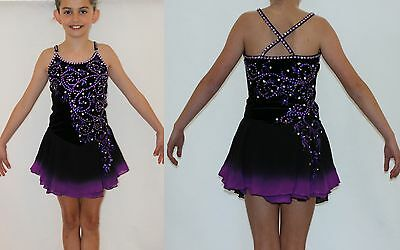 Ice figure skating dress/Baton Twirling/Tap Costume Dance leotard Made to fit