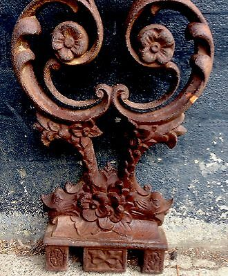 Ornate Floral And Serpent Dolphin Cast iron Architectural Salvage