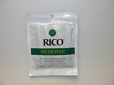 Rico Reserve Alto Saxophone Reeds, Twin pack, Strength 2.5 or 3 or 3.5