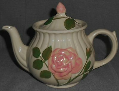 Shawnee EMBOSSED PINK ROSE DESIGN Four Cup TEAPOT w/LID #1