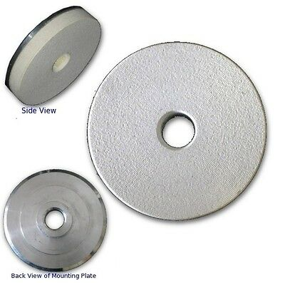 "3"" White Resin PAD with 5/8""-11 Threaded Adapter Mount,For Stone Final Polishing"
