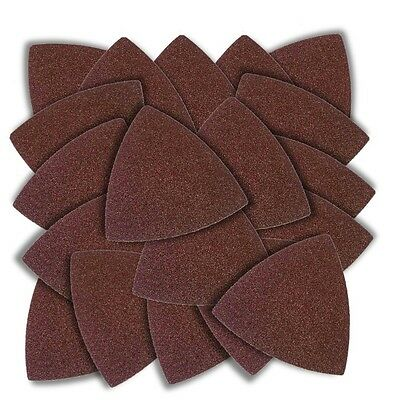 20 pieces 3 inch Triangular SANDPAPER with Hook and Loop Backing