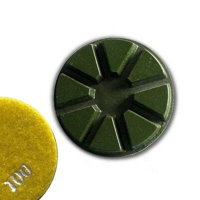 "3"" (80mm) Grit 100, Pie Polishing Pad, Dry Use, Hook and Loop Backing"