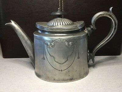 Antique Silver Plated Coffee Pot