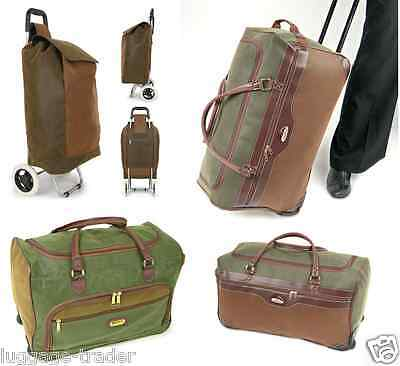 Large Big Tan Faux Suede Suitcase Holdall Cabin Bag Trolley Hand Luggage Wheeled
