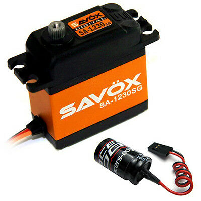 Savox SA-1230SG Monster Torque Coreless Steel Gear Digital Servo + Glitch Buster