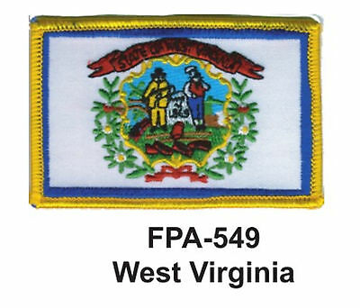 """WEST VIRGINIA State Flag Embroidered Patch-2-1/2'' X 3-1/2"""""""