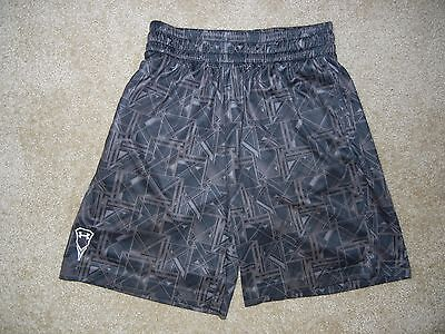 UNDER ARMOUR Brown/Black ATHLETIC SHORTS Size Kids YOUTH LARGE Basketball Soccer
