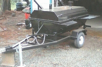 New Custom Made Bbq Pig Cooker Smoker & Accessories ~ 5Ft X 3Ft Cooking Surface!
