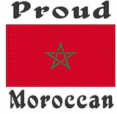 Proud Moroccan. Morocco Flag  Baby Bodysuit Embroidered
