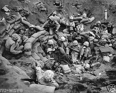 1945- Iwo Jima-Regimental Command Post-Front Lines Sandbagged Position