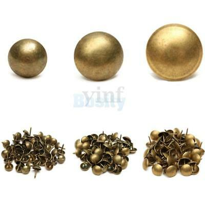 100Pcs Antique Bronze Upholstery Nails Furniture Studs/Tacks/Pins 4 Sizes Pick
