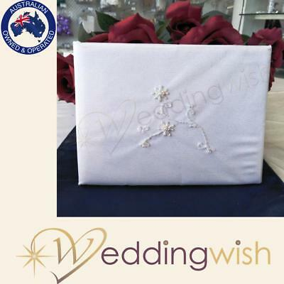 Wedding Guest Book with Ivory Beading