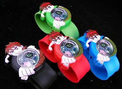 Ben 10 Slap Snap On Silicone Sports Quartz Wrist Watch Kids Gift Party Supply