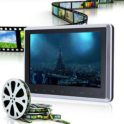 "HDMI 10.1"" Touch Slim Headrest HD Digital Car DVD Player Monitor IR/FM/USB/SD"