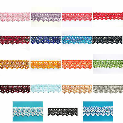 1-3/4 inches 19 Colors Embroidered Scalloped Venice Guipure Lace Trim By Yardage