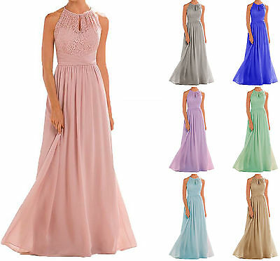 New Stock Sexy Chiffon Lace Formal Party Evening Prom Gowns Bridesmaid dresses