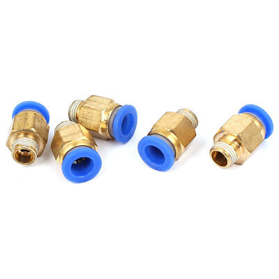 1/8BSP Male Thread Straight Connector Quick Release Push In Fitting 5pcs