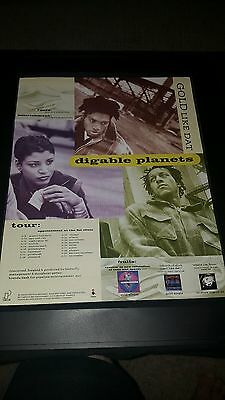 Digable Planets Gold Like That Tour Rare Original Promo Poster Ad Framed!